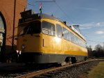 żółty wagon pociągu