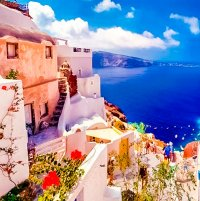 beautiful santorini